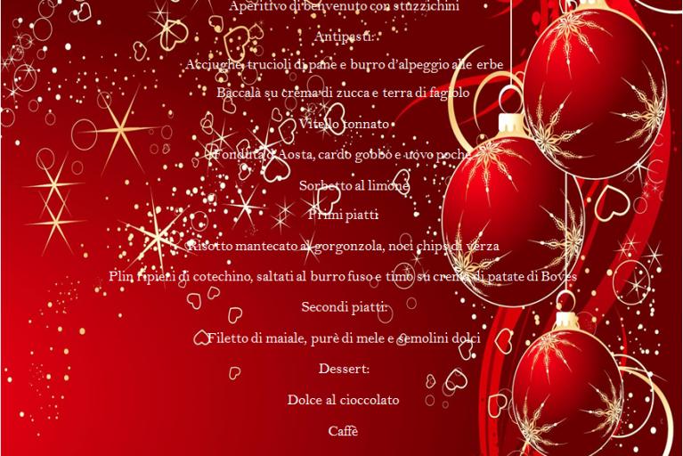 Menu del Santo Natale